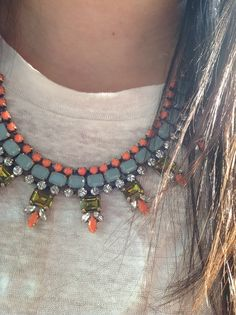 Orange jewels  J crew jewelry  Classic looks for woman