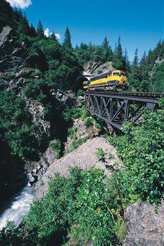 Alaska Travel Photos > Alaska Railroad > Bridge Crossing