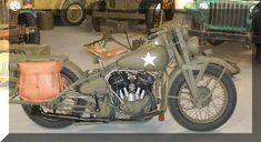World War Two Harley Davidson WLA Motorcycles for sale