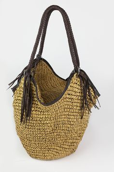 Basket Bag, Rattan, Bucket, Brown, Surface, Bags, Accessories, Exterior, Style