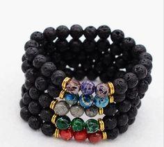 8Mm Volcano Natural Stone Regalite Beads Bracelet Gem Tibet Buddist Hand Chain