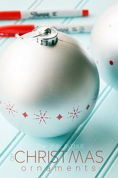 Give an ornament a complete new look in minutes using Sharpies. Tutorial at the36thavenue.com
