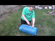 ▶ Guiding Traditions: How to tie a Bedroll - YouTube