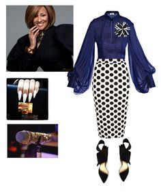 Dorinda Clark Cole singing at BMI!!! by cogic-fashion on Polyvore featuring polyvore fashion style Yves Saint Laurent River Island clothing