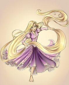 Rapunzel Colored by *sharpie91 on deviantART