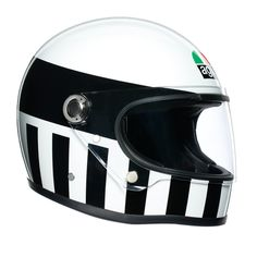 "AGV Invictus"" retro full face helmet of the AGV Legends Collection. Discover AGV motorcycle helmets at now!"