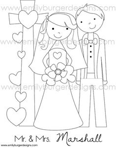 Wedding Cake Coloring Page-for a kid\'s activity book for the ...