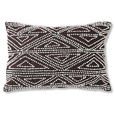 Diane Von Furstenberg Beaded cushion cocoa bean
