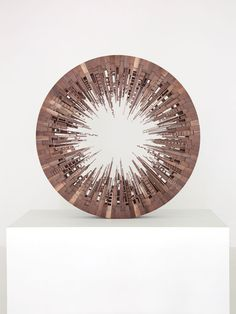 James McNabb City Wheel 6 From the series ''Metros'' American Black Walnut 48 inches round 2014