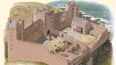 New images depict Tantallon Castle's medieval past Medieval Life, Medieval Castle, Today Images, Scotland Castles, Travel Oklahoma, Fortification, Birds Eye View, New York Travel, Death Valley