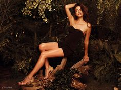 No one can pull off a little black dress quite like Irina Shayk! The sexy supermodel, who is fresh from her breakup with Cristiano Ronaldo, showed the soccer star what he's missing as she posed for this sexy XTI footwear ad.