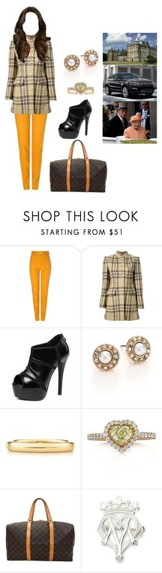 """Traveling to The Palace of Holyrood House"" by duchessofoxfordshire ❤ liked on Polyvore featuring Sretsis, Hermès, WithChic, Oscar de la Renta, Elsa Peretti, Mark Broumand and Louis Vuitton"