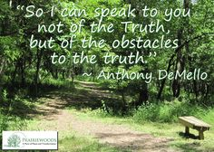 What obstacles are in the way of your truth?