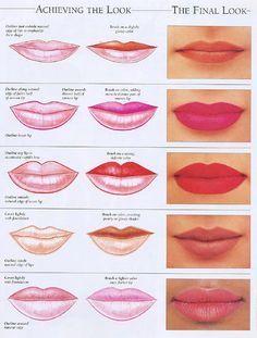 lipstick tricks for thin lips - Google Search