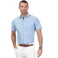 Groomsmen. I LOVE this look! Short Sleeve Button-Down Shirt - Nautica