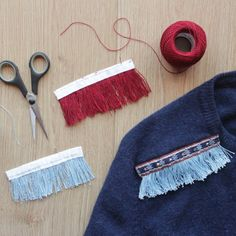 Learn how to make your own fringe trims with just 3 materials + update and old sweater [with step by step video]