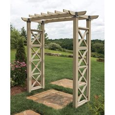 Would love Ryan to make something like this for our special day.....pathway arbor ideas -