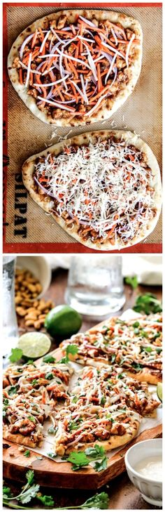 25 Minute Thai Chicken Flatbread Pizza