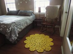 Small Yellow Doily Round Area Throw Rug, Crochet Rustic Rug, Shabby Home Decor, French Country chic, Nursery Rug, floral floor mat, carpet on Etsy, $71.04 AUD
