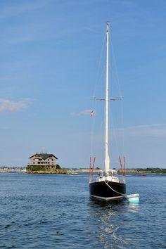 In Newport Harbor, Rhode Island