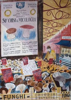 funghi assortiti watercolour Emily Sutton