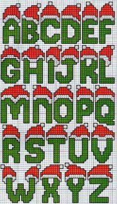 X-stitch Christmas lettering Xmas Cross Stitch, Cross Stitch Letters, Cross Stitching, Cross Stitch Embroidery, Christmas Perler Beads, Diy Perler Beads, Perler Bead Art, Plastic Canvas Letters, Plastic Canvas Christmas