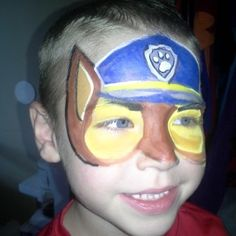 Paw Patrol Face Paint Design by Jamie visit us at Amusement with a Twist call and book your party or event today! 407-717-3480 or 575-495-2616