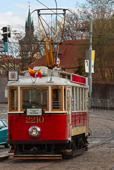 Tram, Prague, Czech Republic.