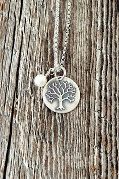 Tree Charm Necklace Family Tree Necklaces Charm by therhouse
