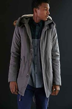 Native Youth Sherpa Long Fishtail Parka Jacket