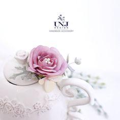 Purple flower hairclip/Brooch,Bridal hair accessories, Wedding flower hairclip, Bridal hairclip, wedding by UNJdesign on Etsy