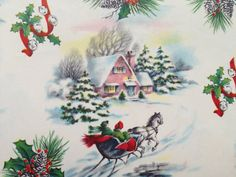 Vintage Christmas Gift Wrapping Paper  A by TheGOOSEandTheHOUND, $6.00