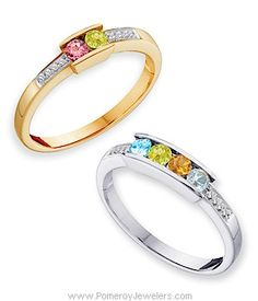 Momma's Ring thought: Diamond & Alexandrite in s/s