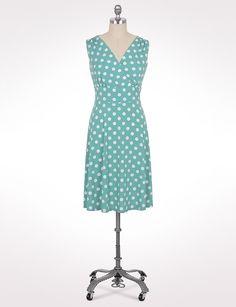 Plus Size | Dresses | Plus Size Surplice Polkadot Dress | dressbarn