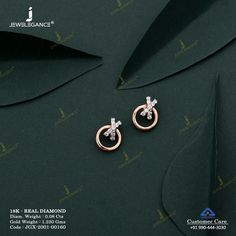 Real Diamond Earring jewellery for Women by jewelegance. ✔ Certified Hallmark Premium Gold Jewellery At Best Price Diamond Earrings Indian, Indian Jewelry Earrings, Jewelry Design Earrings, Gold Earrings Designs, Antique Earrings, Diamond Stud Earrings, Small Earrings, Diamond Studs, Designer Earrings