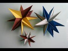 ▶ Origami 3D Stern star - YouTube