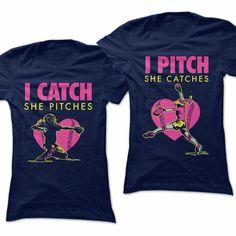 Gg watch pitcher fancy was catcher Softball Tshirts, Softball Room, Softball Gifts, Girls Softball, Softball Stuff, Softball Clothes, Baseball Mom, Softball Workouts, Softball Drills