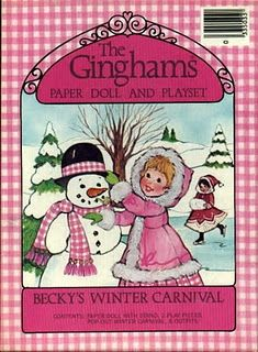 The Ginghams: Becky's Winter Carnival Paper Doll and Playset ; Susan Morris ; 1979