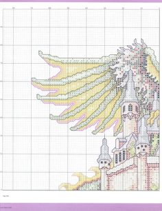 The Castle (Theresa Wentzler) From Cross Stitch Gold 3 of 7 Dragon Cross Stitch, Fantasy Cross Stitch, Cross Stitch Fairy, Cross Stitch For Kids, Cross Stitch Charts, Cross Stitch Designs, Cross Stitch Patterns, Cross Stitching, Cross Stitch Embroidery