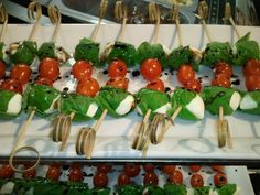 Caprese skewers created by our kitchen for our March 2012 Wine Tasting Event