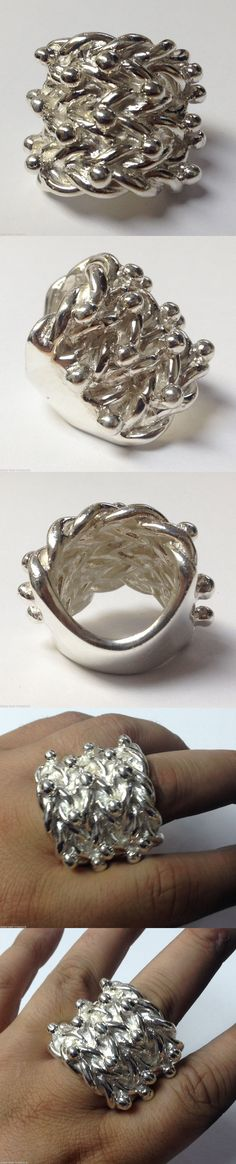 Giant keeper silver ring. SIZE:- Z  USA SIZE:- 12.5  METAL:- SOLID 925 SILVER  GRAM WEIGHT:- 98 GRAMS   34.1mm WIDE AT THE TOP -  £199.99