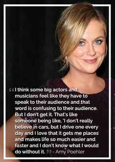 """celebrity quotes : """"I think some big actors and musicians feel like they have to speak to thei. - The Love Quotes New Quotes, Music Quotes, Love Quotes, Inspirational Quotes, Famous Quotes, Amy Poehler, Celebrity Memes, Perspective Quotes, Feminism Quotes"""