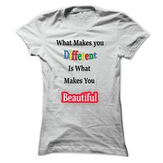 5e29b35d0 what makes you different is what makes you beautiful T-Shirts, Hoodies. ADD