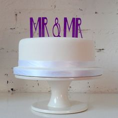 Wedding Cake Topper Mr & Mr