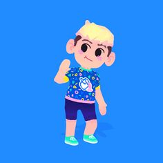 """michaelshillingburg: """"hi! And animated! 3d Model Character, Character Modeling, Game Character, 3d Character Animation, Low Poly Models, Chibi Characters, Cute Kawaii Drawings, Game Concept Art, People Illustration"""