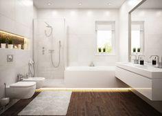 COREtec Plus Premium ralston walnut Vinyl Plank Flooring Vinyl Wood Flooring, Luxury Vinyl Flooring, Luxury Vinyl Tile, Wood Vinyl, Floating Toilet, Floating Vanity, Coretec Plus, Contemporary Baths, Bathroom Photos