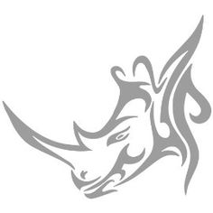 Tribal Rhinoceros Decal Sticker. Available in 19 colors! $
