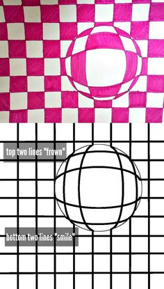 A fun classroom project guide focusing on optical illusion art for kids. - A fun classroom project guide focusing on optical illusion art for kids. Instructions for creating - Illusion Kunst, Illusion Drawings, Illusion Photos, School Art Projects, Art School, Art Optical, Optical Illusion Art, Optical Illusions For Kids, Optical Illusions Drawings