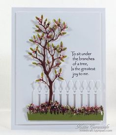 Die cuts & using a product called Flowersoft for tree foliage