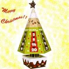 箱の中にはお菓子などを入れて、クリスマス当日までワクワクするカレンダー。✨ 贈り物などにも最適!https://goo.gl/Z7AdV9 #クリスマス #カレンダー #お菓子